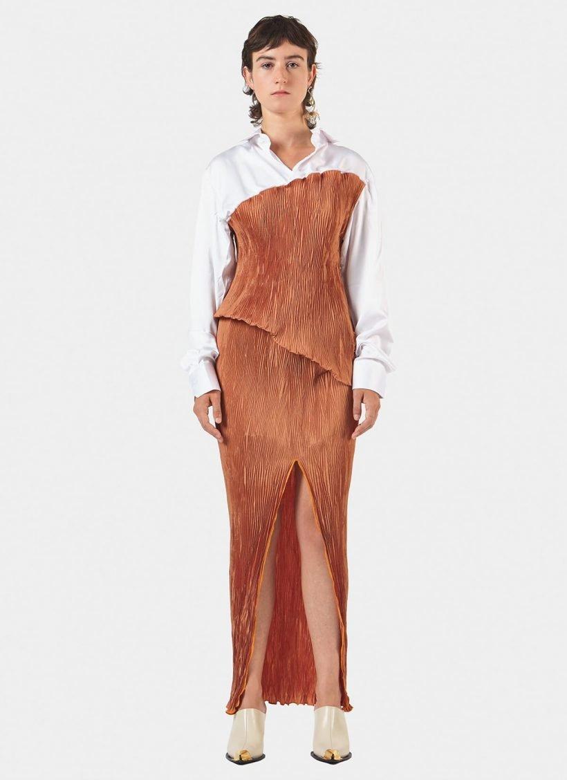Techno Pleat Shirt Dress-main1