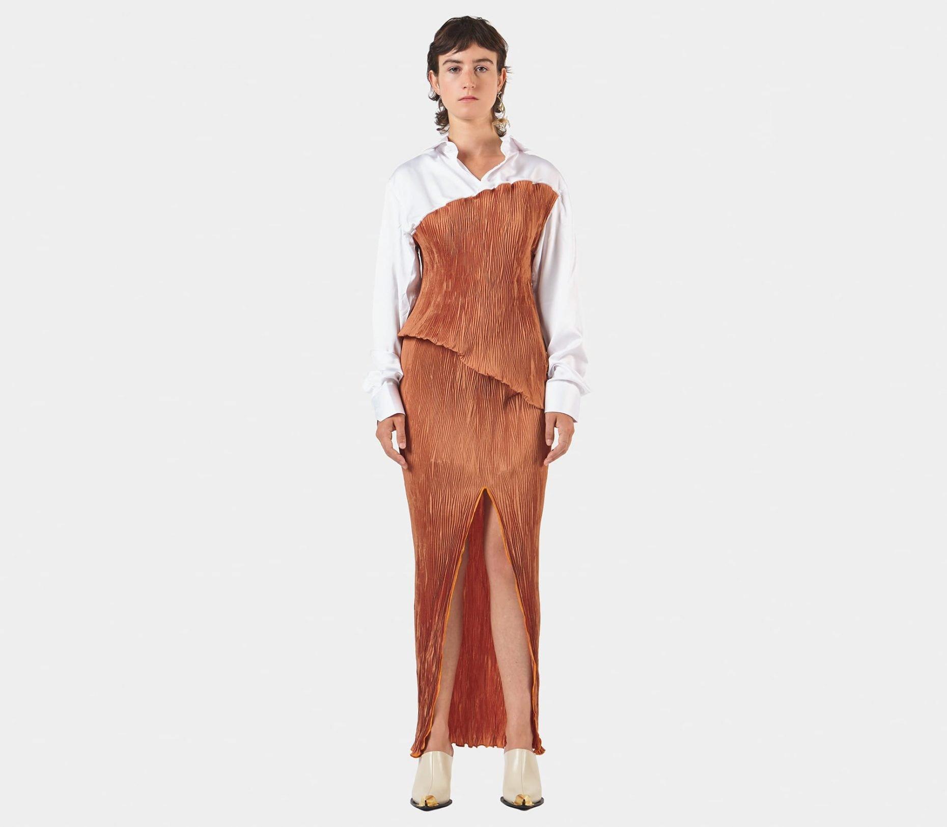 Peet Dullaert Techno Pleat Shirt Dress