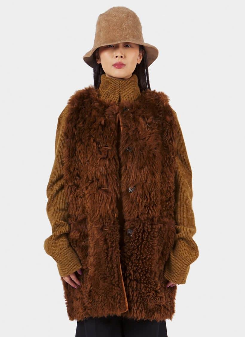 Marni Shearling Waistcoat
