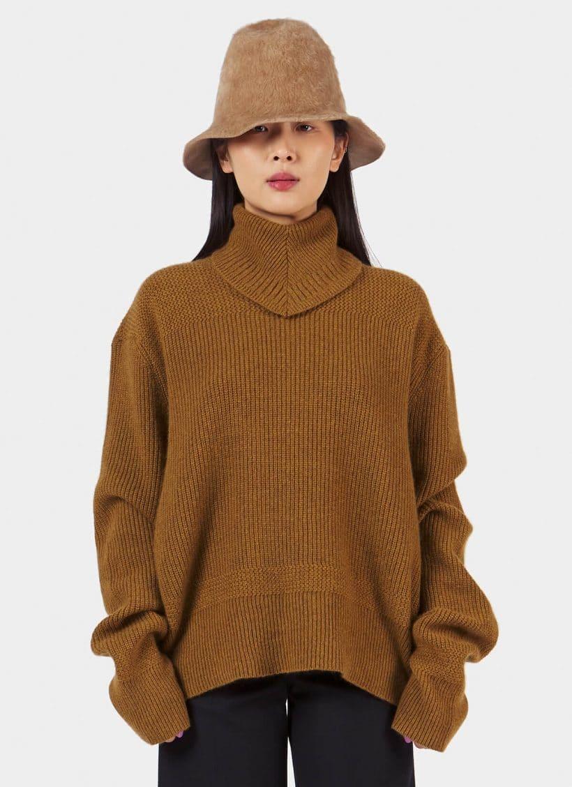 Taiga Takahashi Scarf Neck Sweater_Main